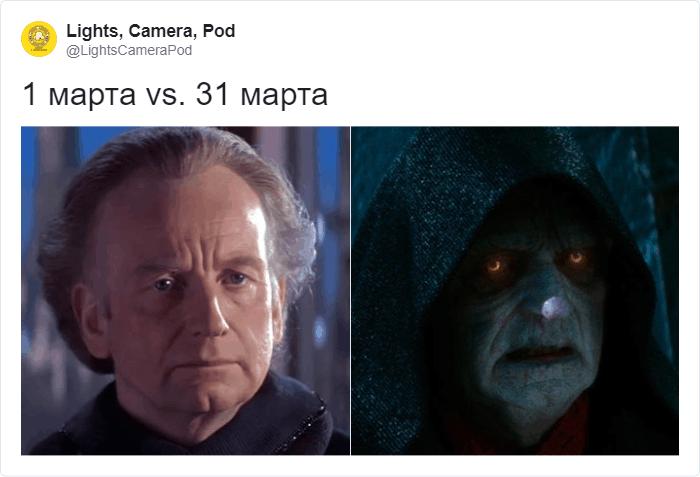 1 марта vs 31 марта