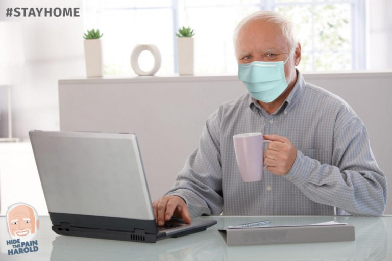 Гарольд скрывающий боль обратился в связи с коронавирусом