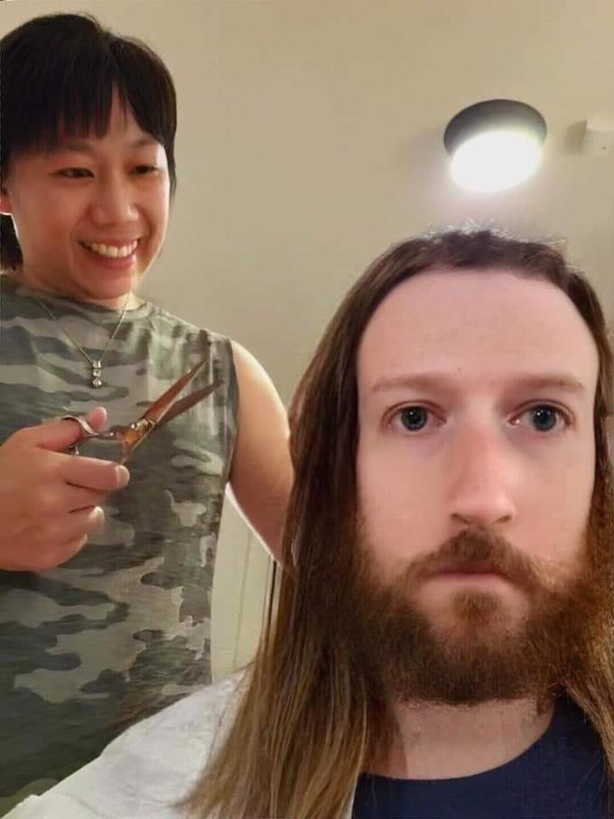Жена постригла Цукерберга фотожабы