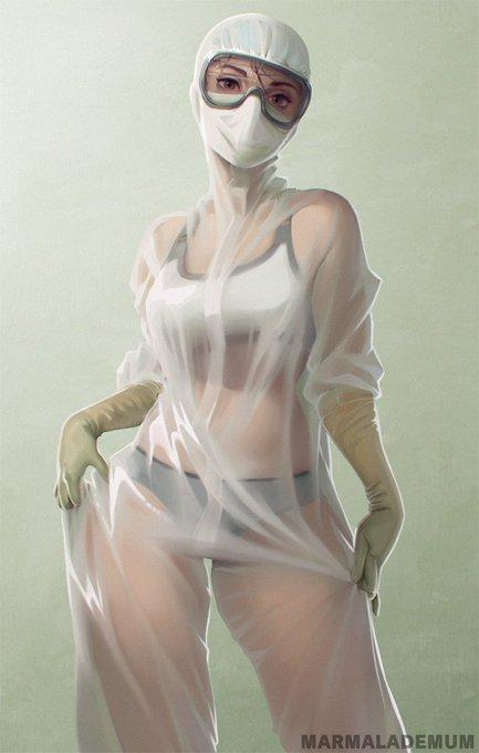 медсестра в купальнике арт