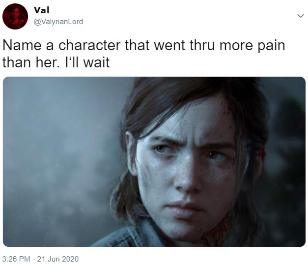 Name a character that went thru more pain than her. I'll wait