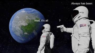 астронавт с пистолетом