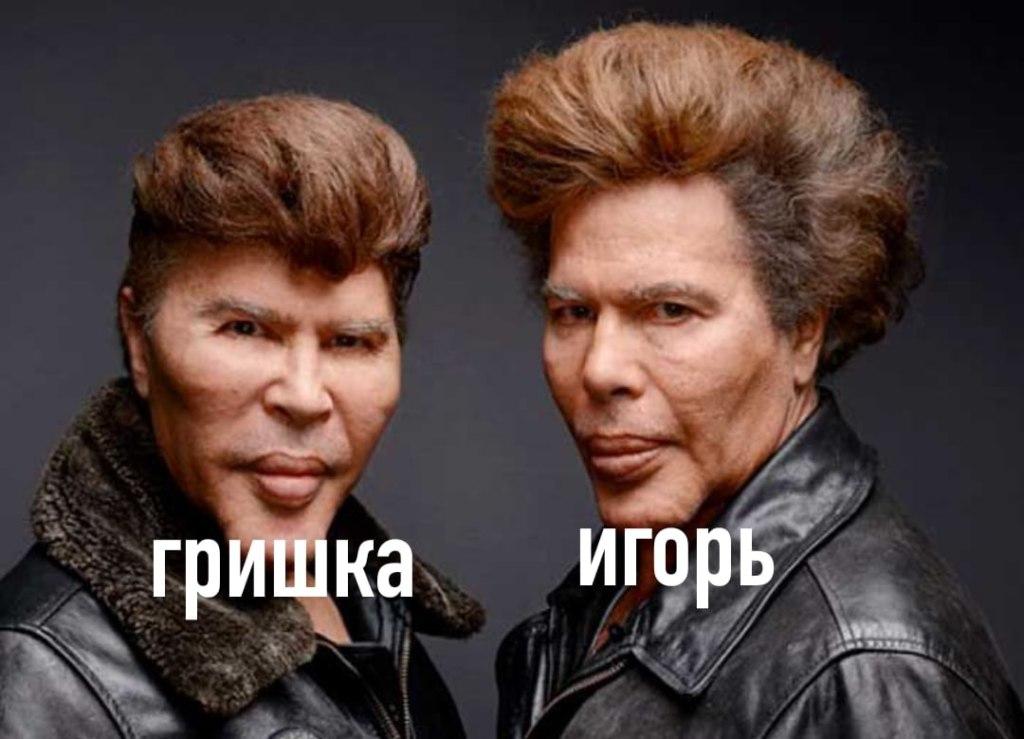 Гришка и Игорь Богдановы как отличить