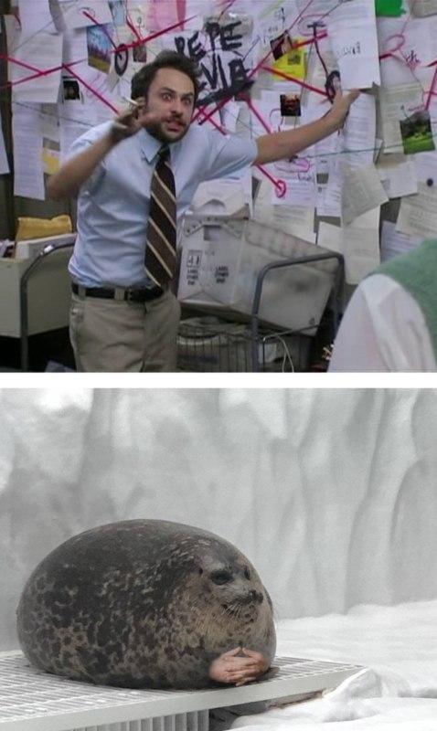 Пепе Сильвия мем с тюленем