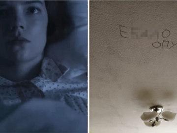 """Бет Хармон из """"Хода королевы"""" смотрит в потолок"""