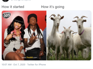How it started vs. How it's going