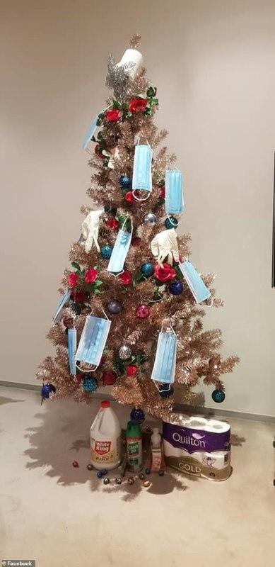 ковидная елка