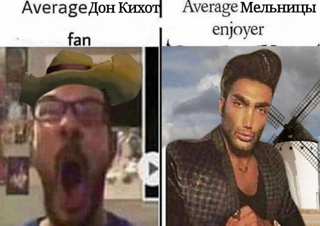 average fan vs. average enjoyer