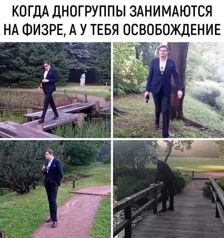 понасенков гуляет по парку мем
