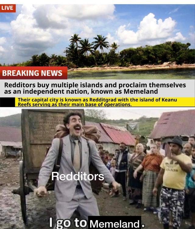 реддиторы покупают остров