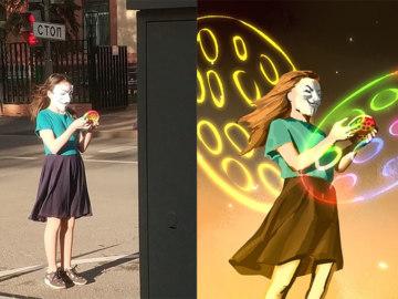 девочка в маске анонимуса мем