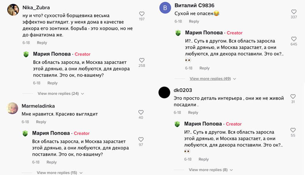 Вся область заросла, и Москва зарастает этой дрянью, а они любуются, для декора поставили. Это ок по-вашему? мем про борщевик