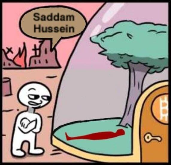 землянка саддама хусейна мем