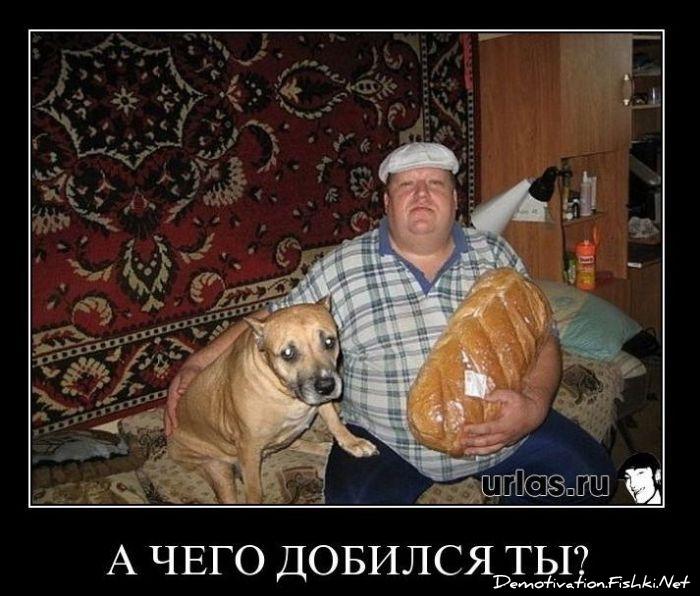 мужик с батоном и собакой мем