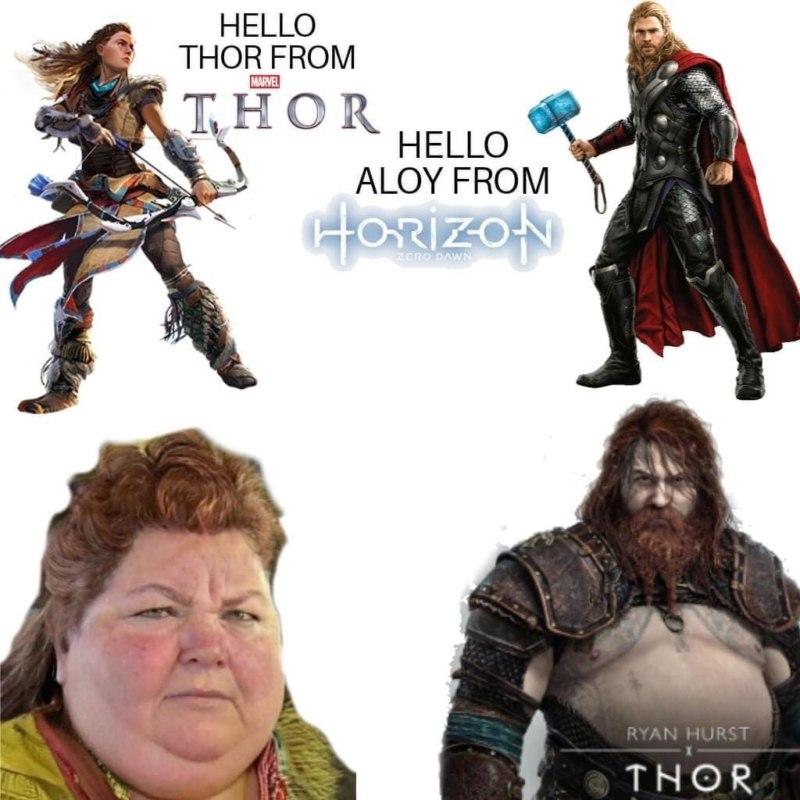 Толстого Тора из God of War разобрали на мемы