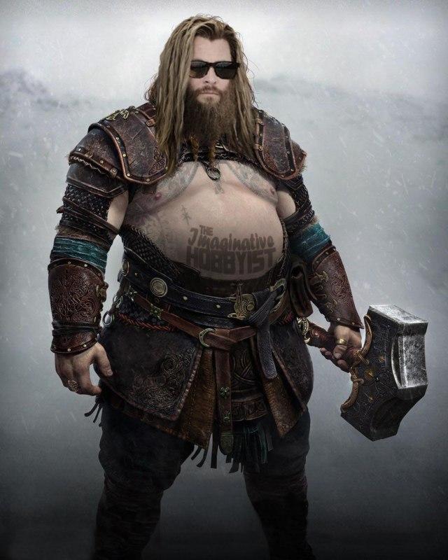 Тор из игры God of War: Ragnarok