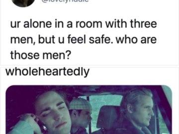 Ты одна в комнате с 3 мужчинами