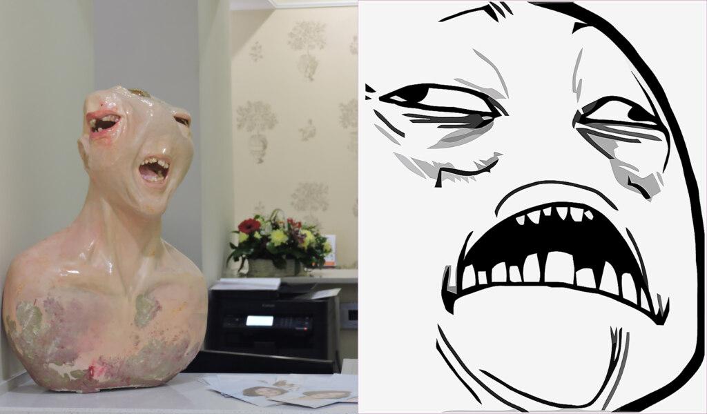 памятник зубной боли, мемы памятник, марьяна шумкова, скульптура зубная боль, зубная боль мемы