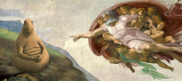 Ждун сотворение Адама