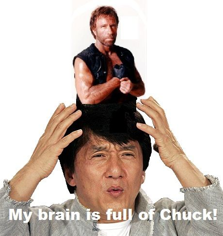 my brain is full of chuck