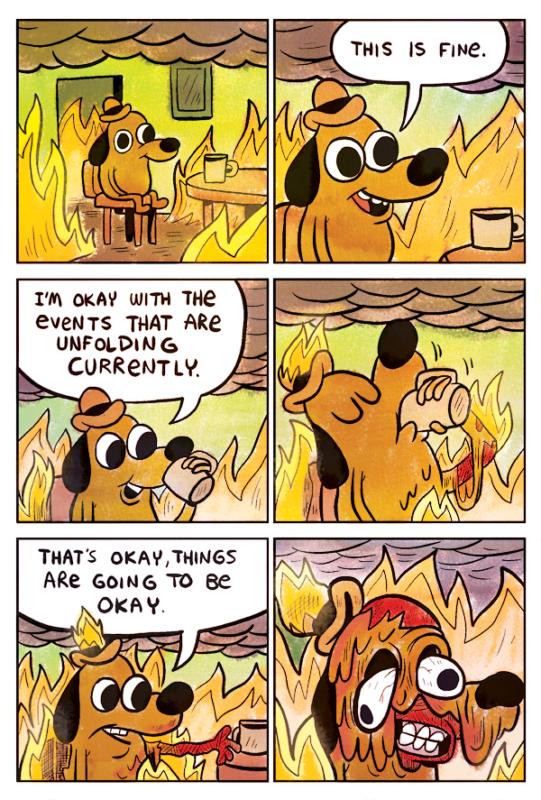 комикс this is fine