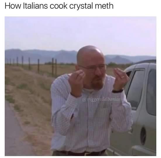 how italians cook meth