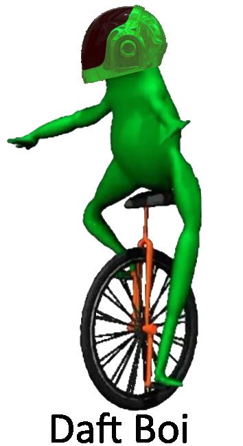 лягушка на моноцикле мем