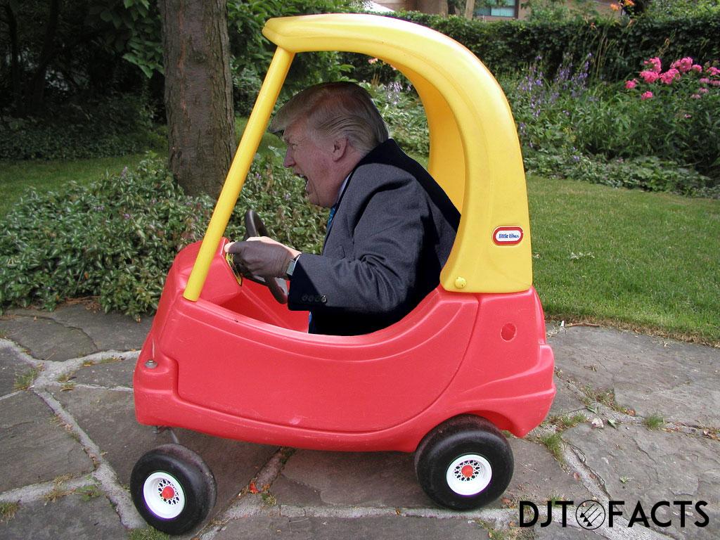 трамп за рулем