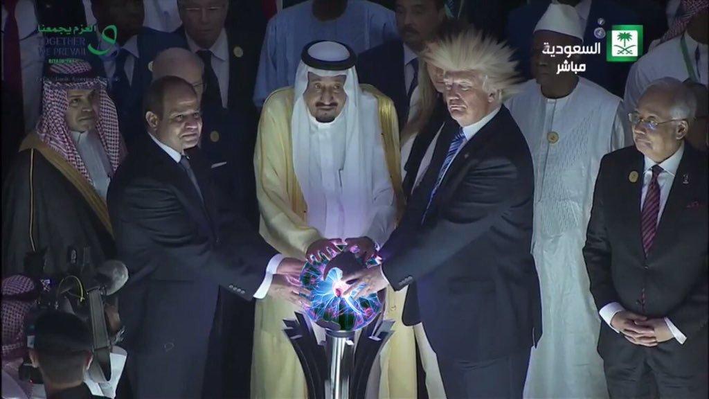 трамп и шар саурона