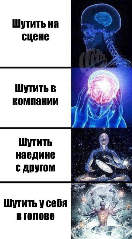 Светящийся мозг (мем Expanding brain, Супермозг) Да или нет Мем